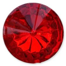 14mm RED Round Acrylic Embellishment Gems